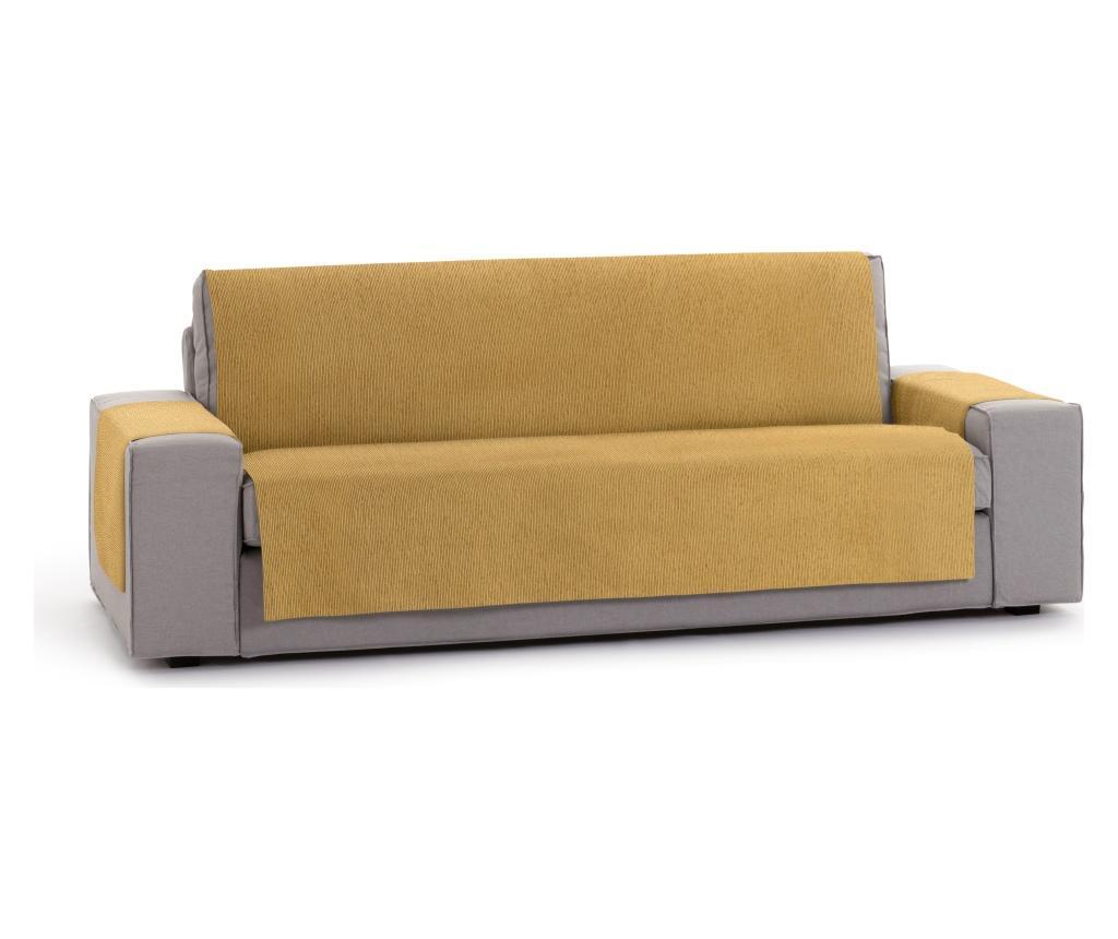 Husa pentru canapea cu 3 locuri Chenille Salva Mustard 170-210 cm - Eysa, Galben & Auriu