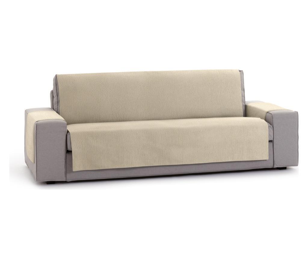 Husa pentru canapea cu 4 locuri Chenille Salva Beige 210-250 cm - Eysa, Crem