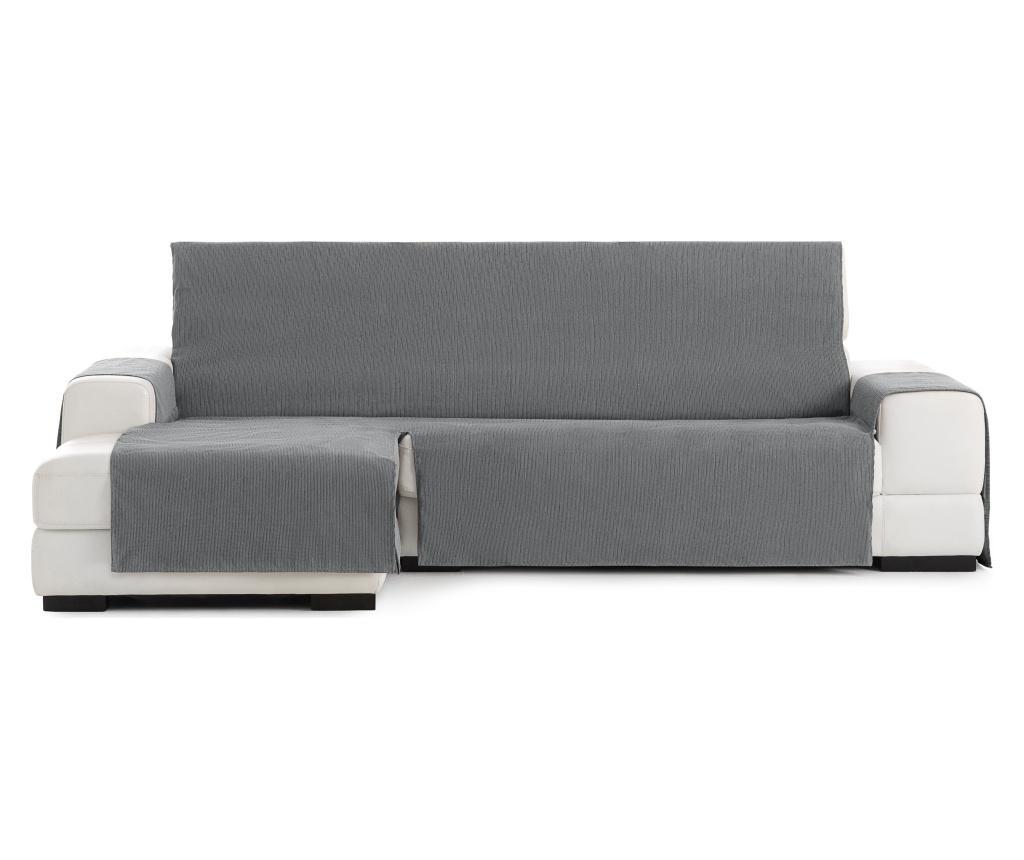 Husa sezlong living stanga Chenille Grey 250-300 cm - Eysa, Gri & Argintiu