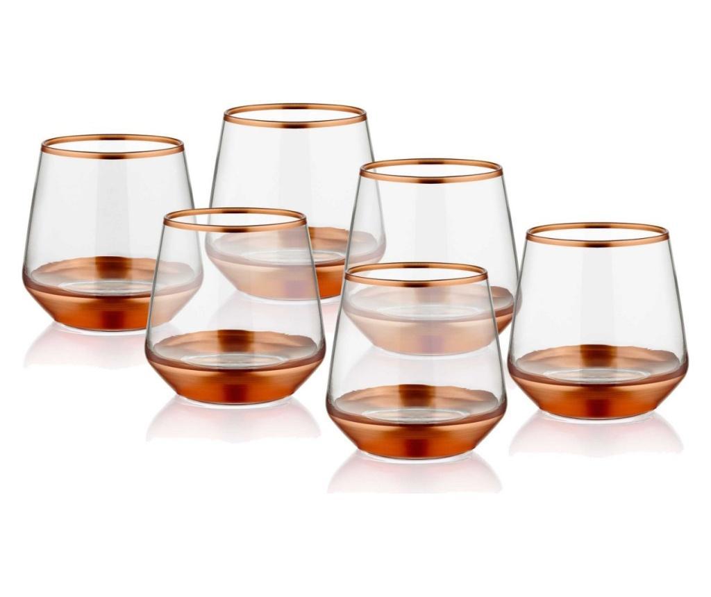 Set 6 pahare - Mia, Galben & Auriu,Roz