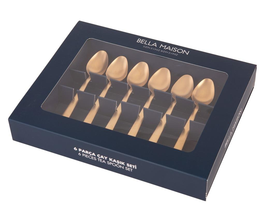 Set 6 lingurite Gold Gold - BELLA MAISON, Galben & Auriu poza