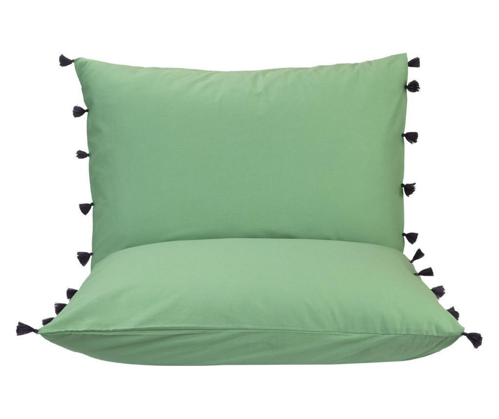 Set 2 fete de perna Tanora Green 50x70 cm