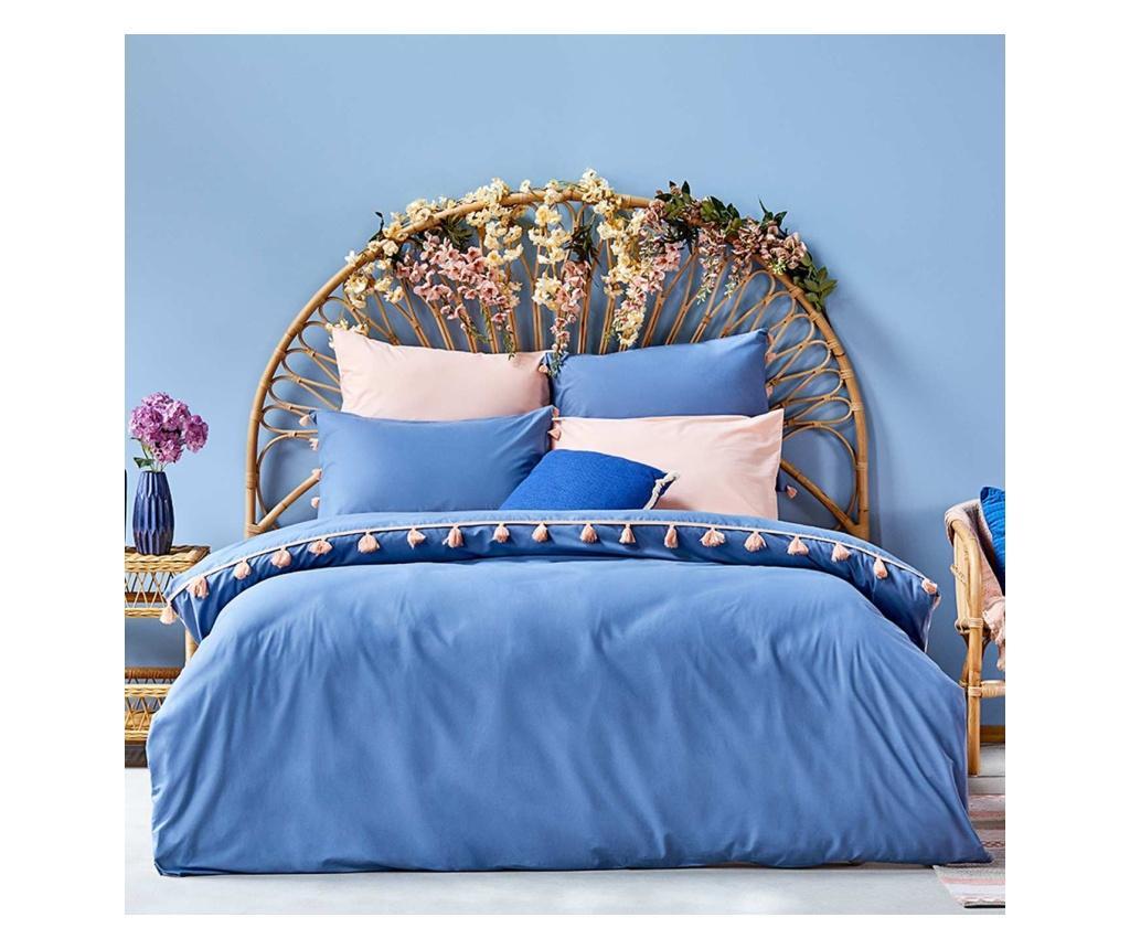 Set de pat Double Ranforce Tanora Blue