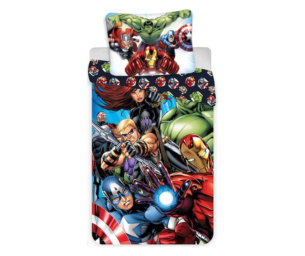 Set de pat Single Ranforce Avengers imagine