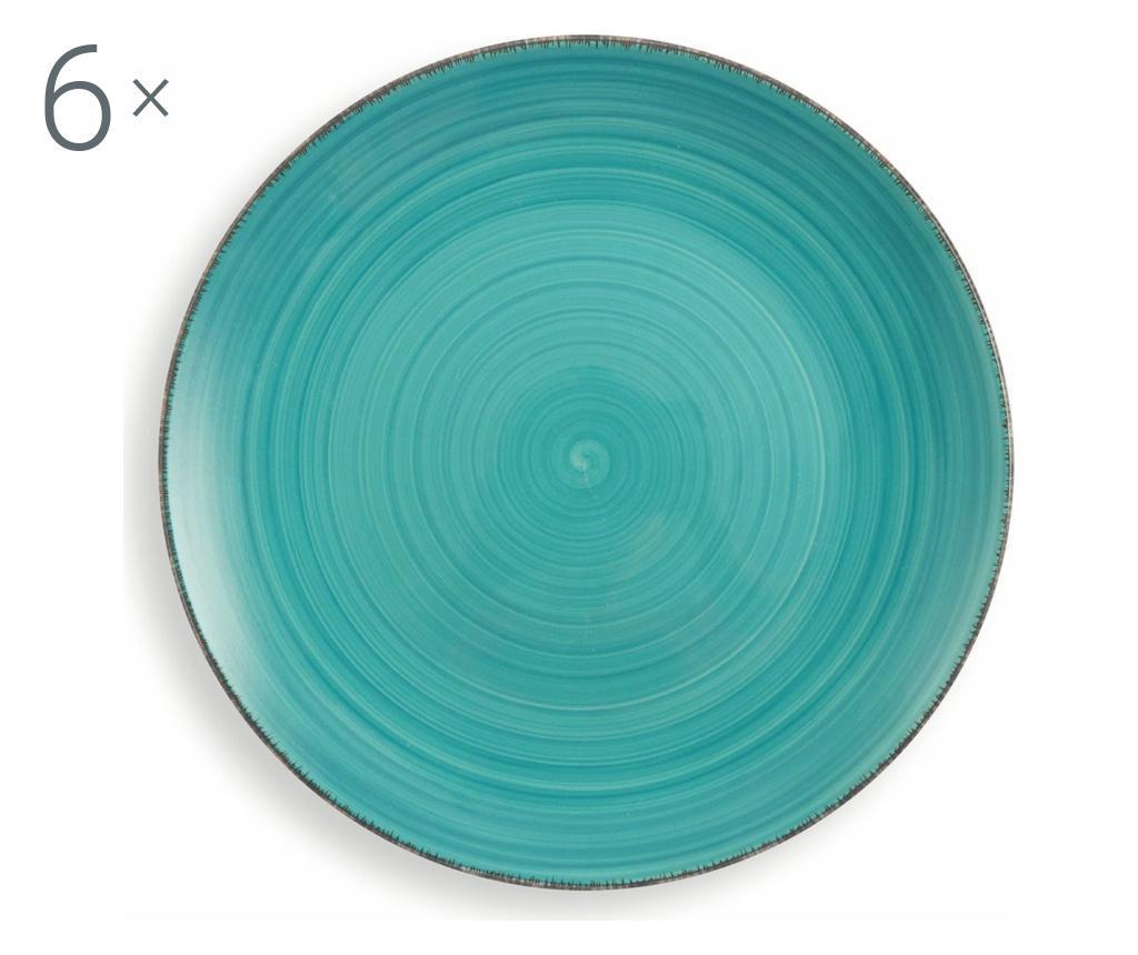 Set 6 farfurii New Baita Turquoise - Villa D'Este poza