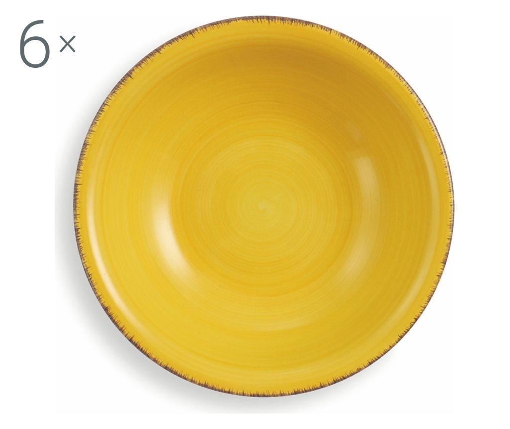 Set 6 boluri Marry Yellow - Villa D'Este Home Tivoli imagine