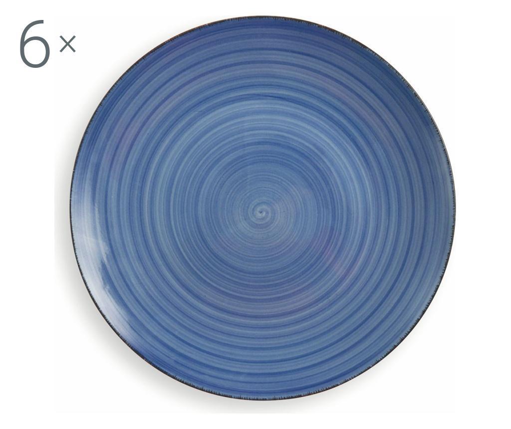 Set 6 farfurii New Baita Blue imagine