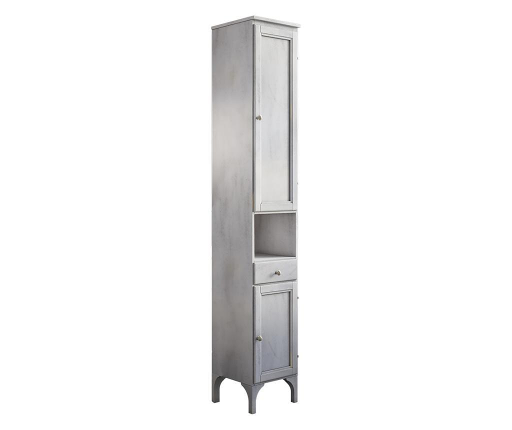 Dulap pentru baie - Savini Due, Gri & Argintiu imagine