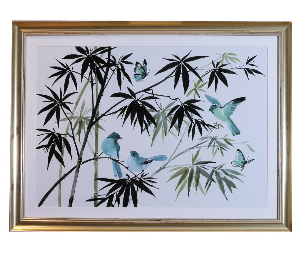Tablou Oriental Birds 60x80 cm - Arthouse, Multicolor imagine