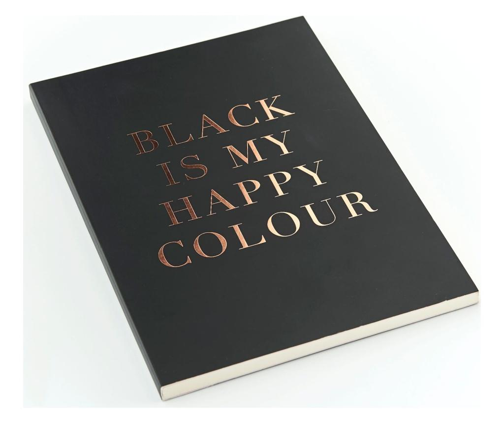 Agenda Trend Black is my Happy Colour A5