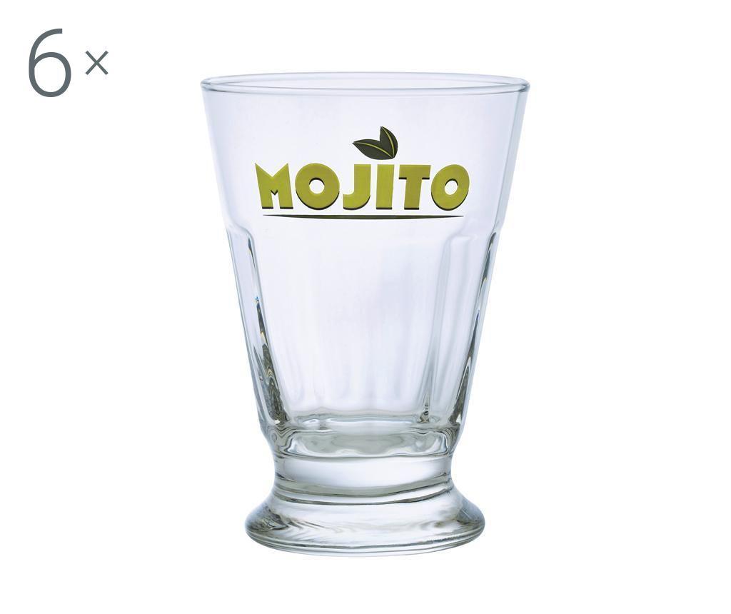 Set 6 pahare Mojito Sambaya 400 ml - DUROBOR, Alb poza
