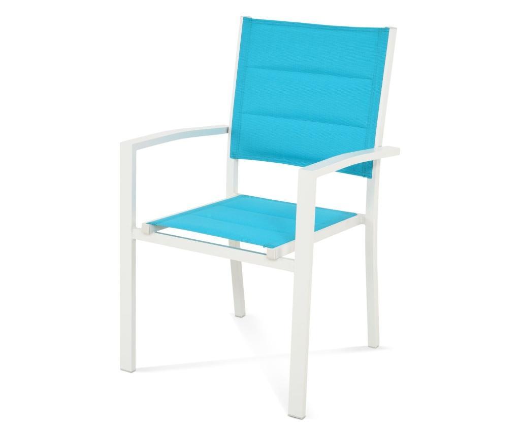 Scaun pentru exterior Dune Blue - Maison Mex, Albastru imagine