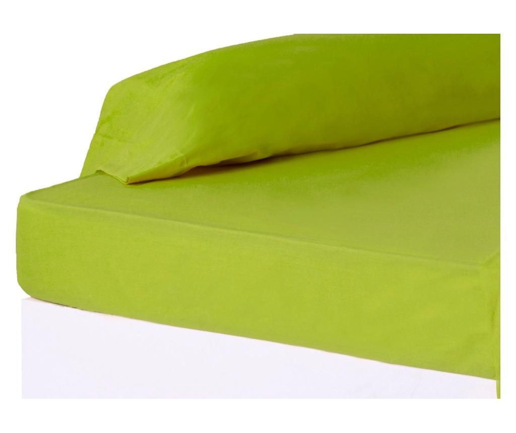 Cearsaf de pat cu elastic 90x200 cm - Casa Selección, Verde vivre.ro