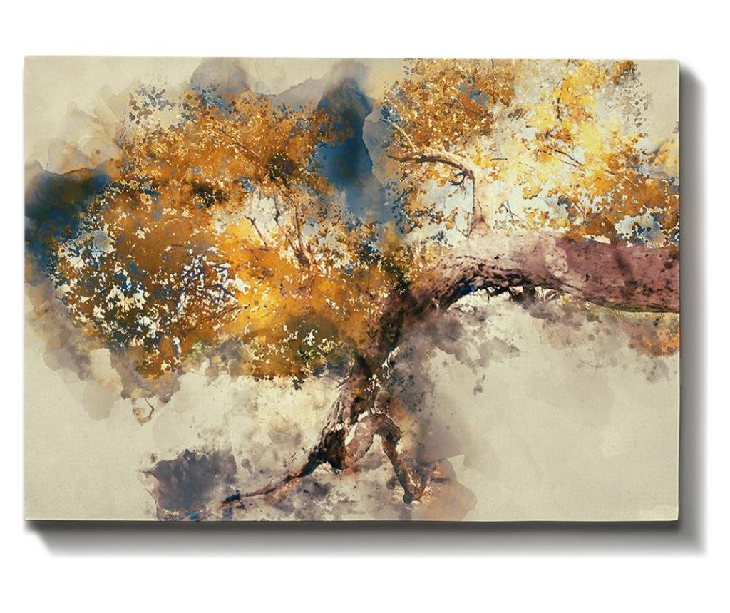 Tablou Abstract 70x100 cm - Bract, Multicolor imagine