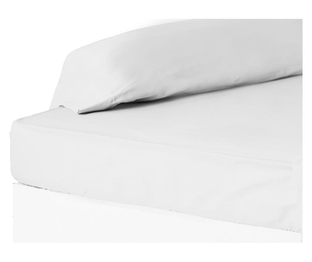Cearsaf de pat cu elastic 90x200 cm - Casa Selección, Alb