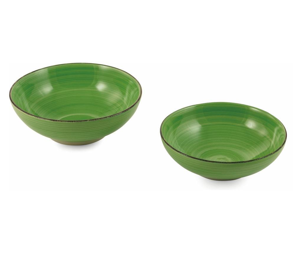 Set 2 boluri pentru salata - Villa D'Este, Verde imagine