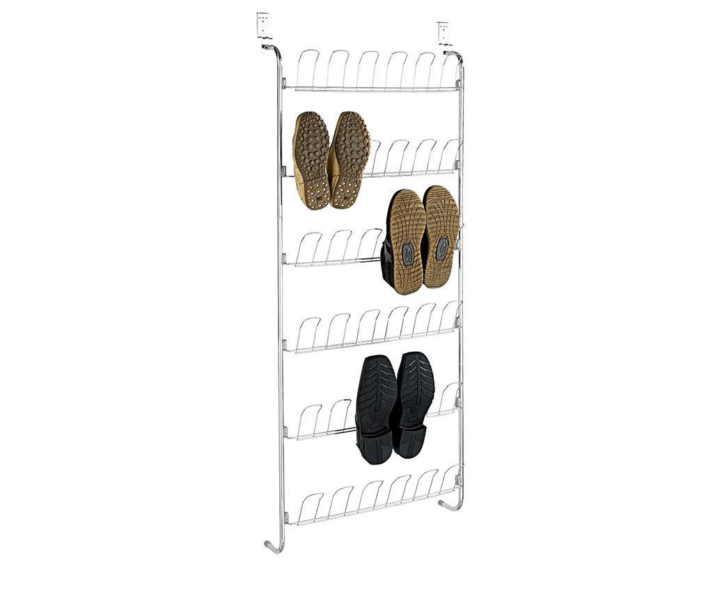 Suport de usa pentru incaltaminte Hooks - Wenko, Gri & Argintiu imagine