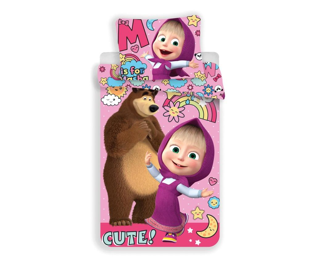 Set de pat Single Ranforce Masha and the Bear