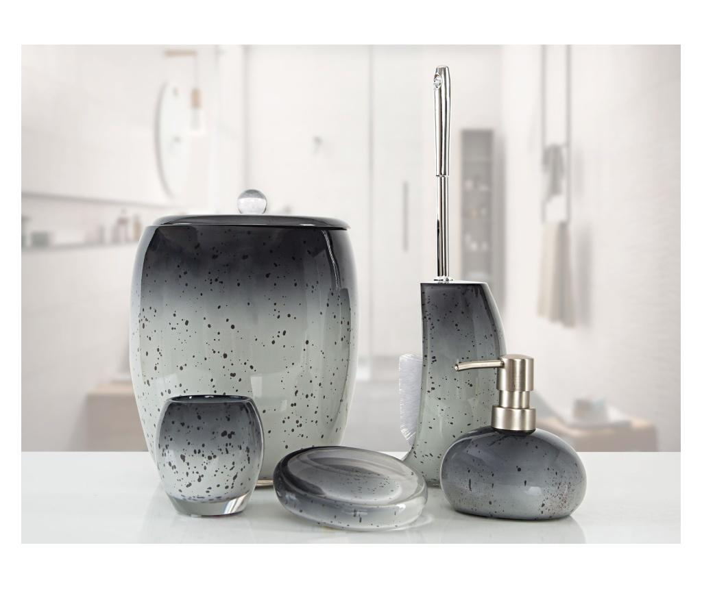 Set accesorii de baie 5 piese Stria Grey - Irya, Gri & Argintiu