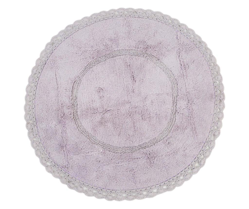 Covoras de baie Catty Purple 100 cm - Irya, Mov vivre.ro