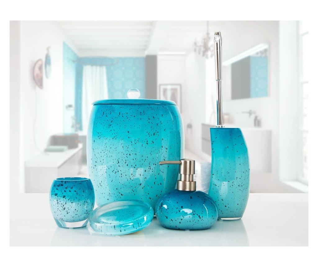 Set accesorii de baie 5 piese Stria Turquoise - Irya, Albastru vivre.ro