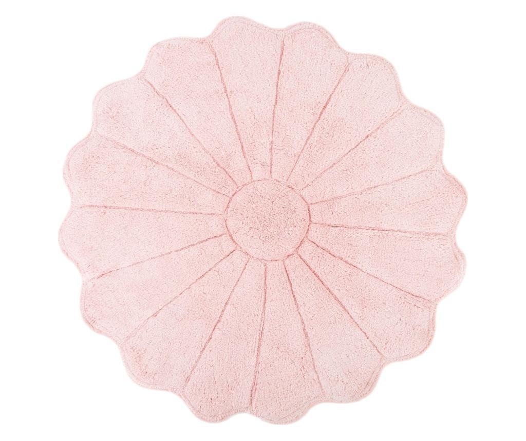 Covoras de baie Daisy Pink 100 cm