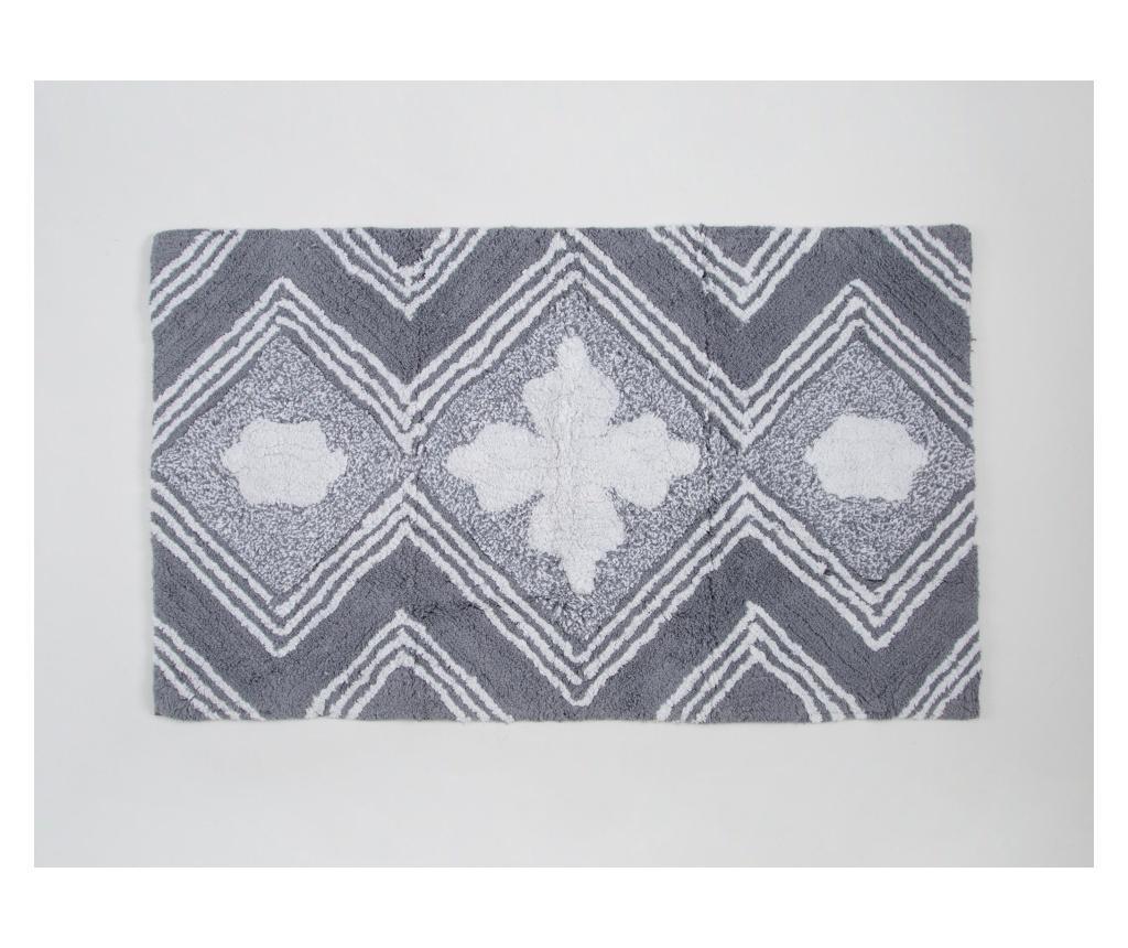 Covoras de baie Sarja Grey 60x100 cm imagine