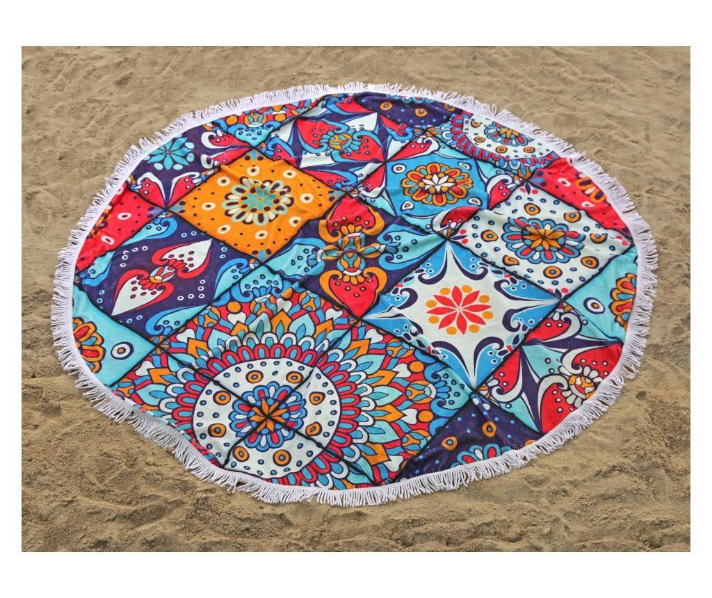 Prosop de baie India Beach Coloured 150x150 cm