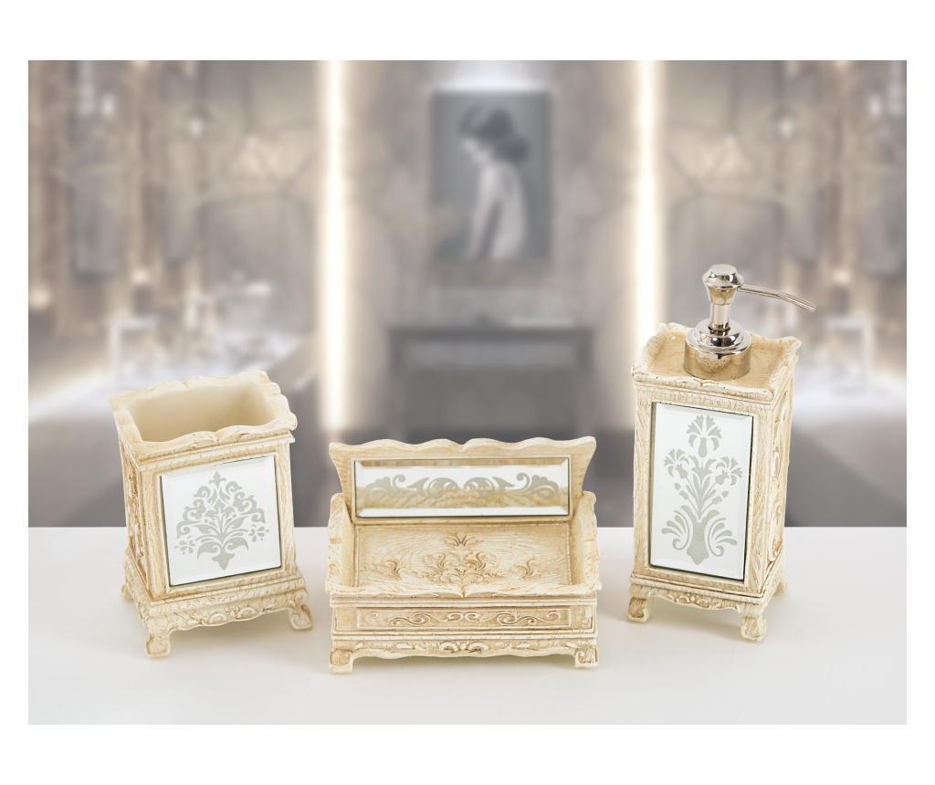 Set accesorii de baie 3 piese Hera - Irya, Crem vivre.ro