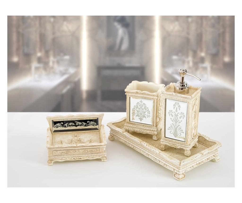 Set accesorii de baie 4 piese Hera Ecru - Irya, Crem