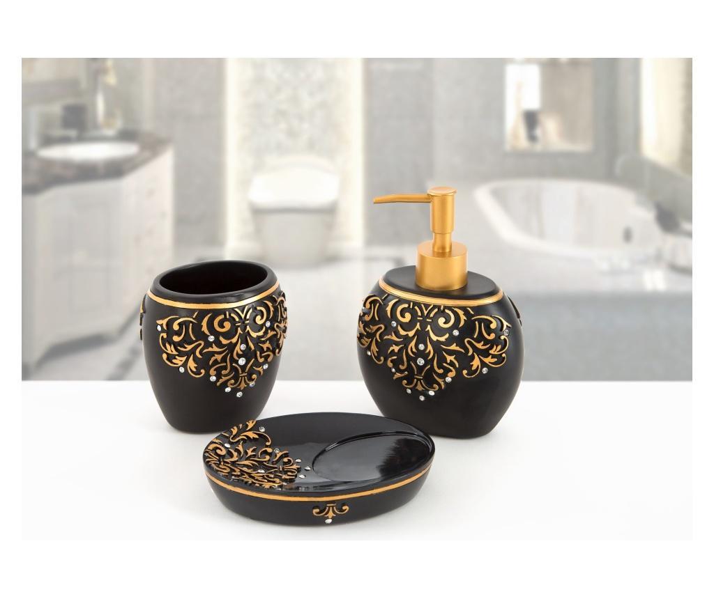 Set accesorii de baie 3 piese Flossy Black - Irya, Negru vivre.ro