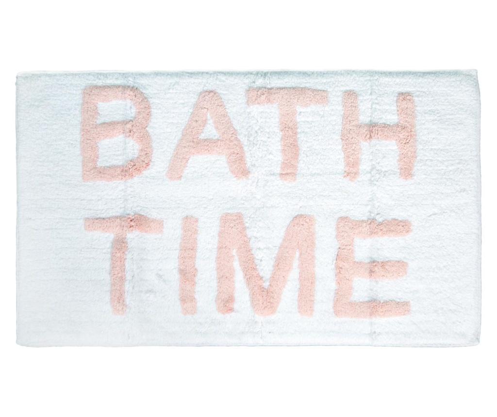 Covoras de baie Time White Pink 51x81 cm imagine