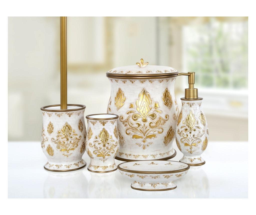 Set accesorii de baie 5 piese Dora Gold - Irya, Galben & Auriu
