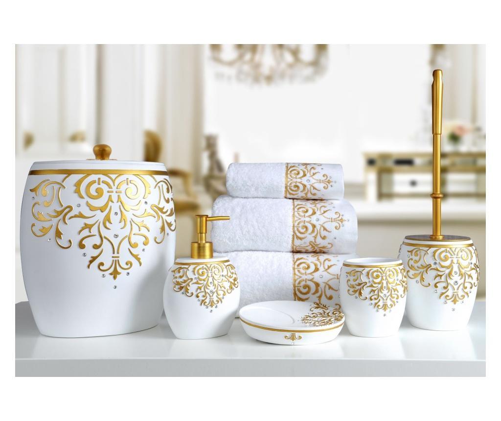 Set accesorii de baie 5 piese Flossy White - Irya, Alb