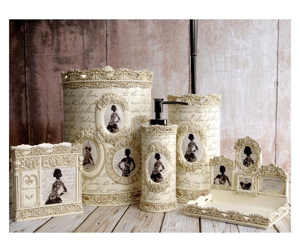 Set accesorii de baie 5 piese Pretty Cream
