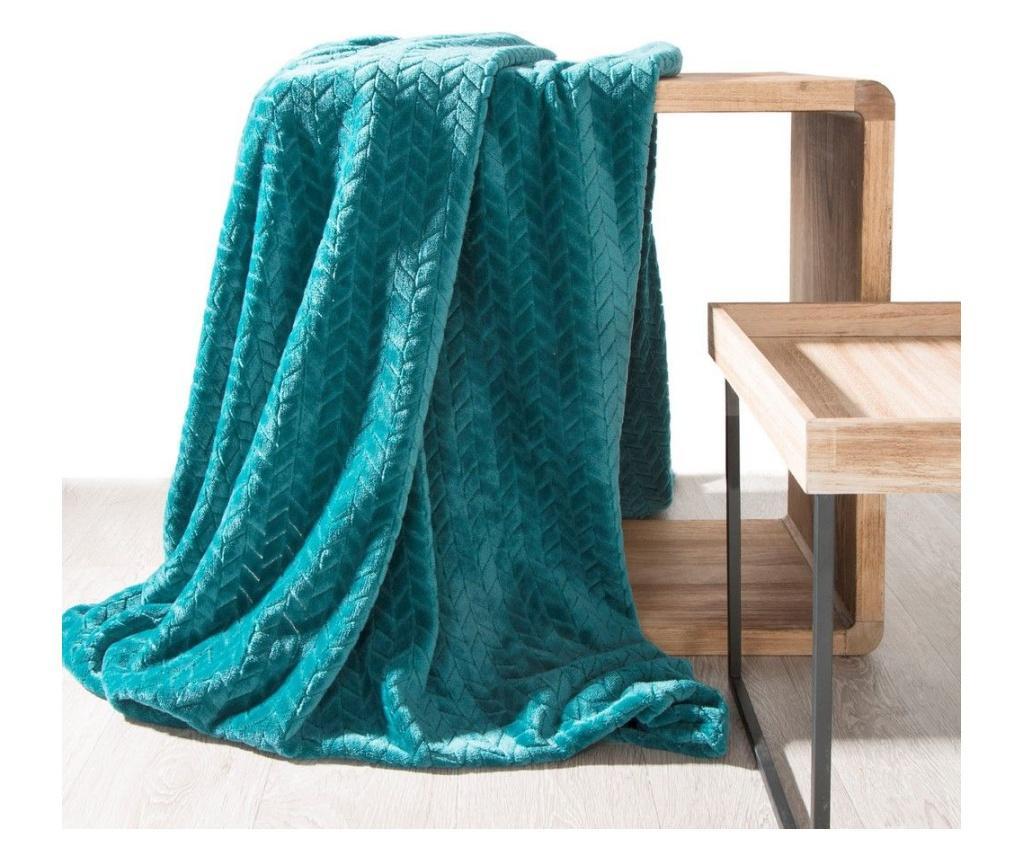 Patura Cindy Green 220x200 cm - Eurofirany, Verde poza