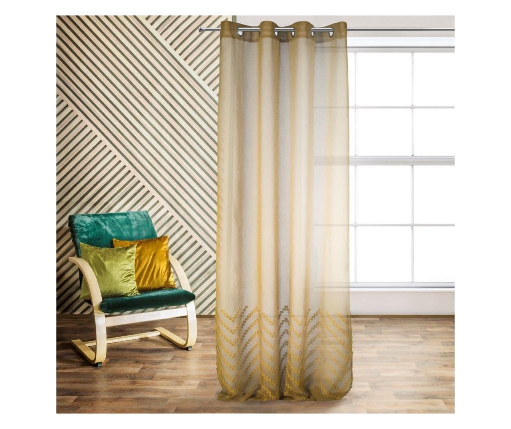Perdea Diane Yellow 140x250 cm imagine