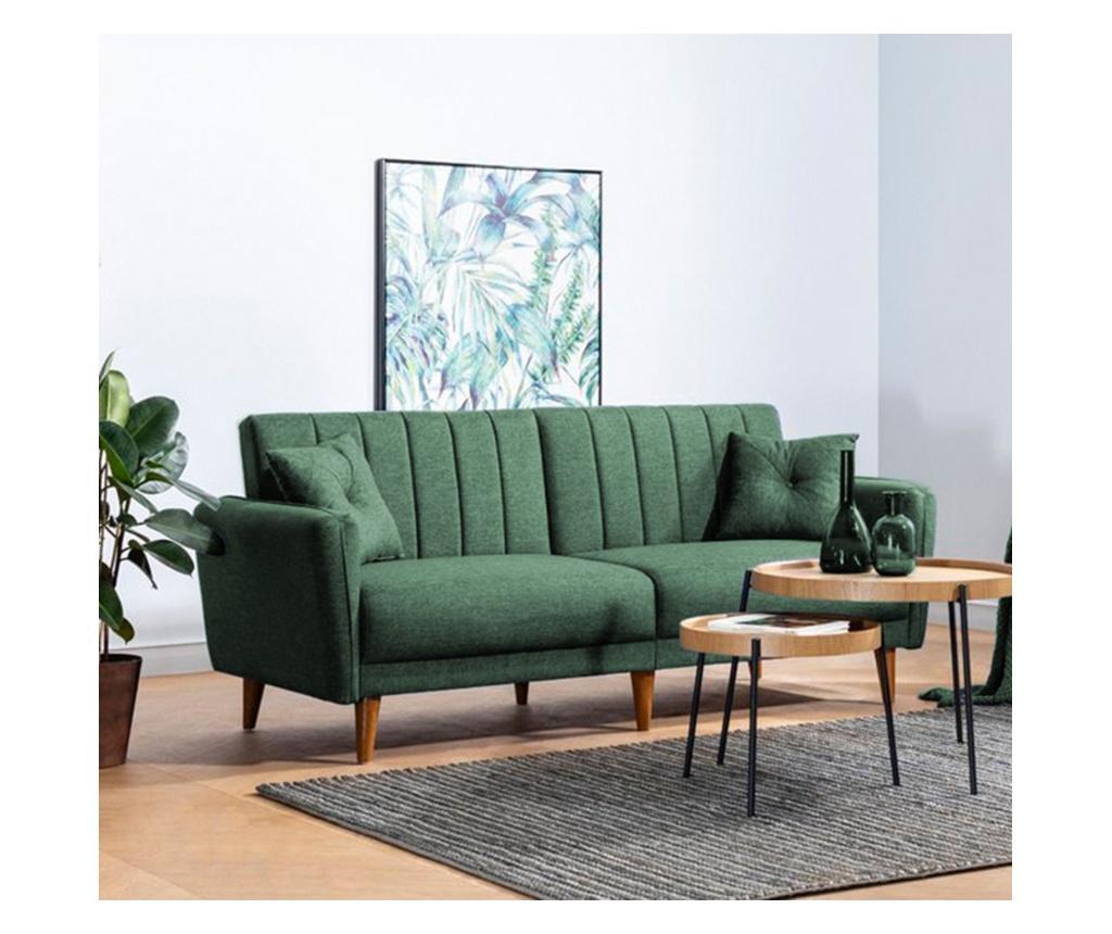 Canapea extensibila cu 3 locuri Aqua Green - Unique Design, Verde