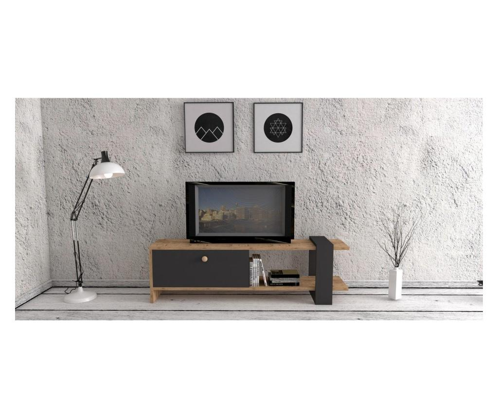 Comoda TV Ova Walnut And Grey - Puqa Design, Maro imagine