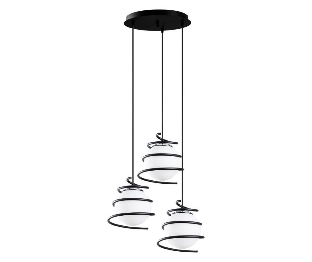 Závěsná lampa Elegance Three Black Round