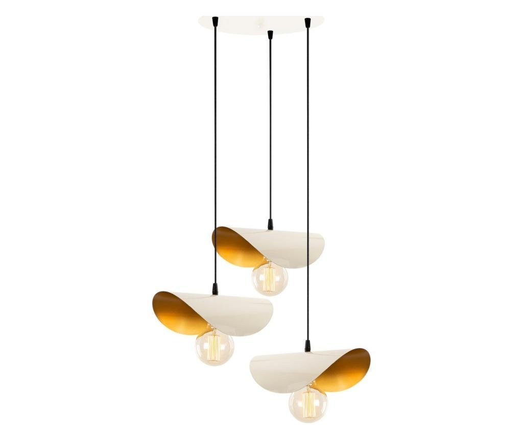 Závěsná lampa Sivani Three White Gold Round