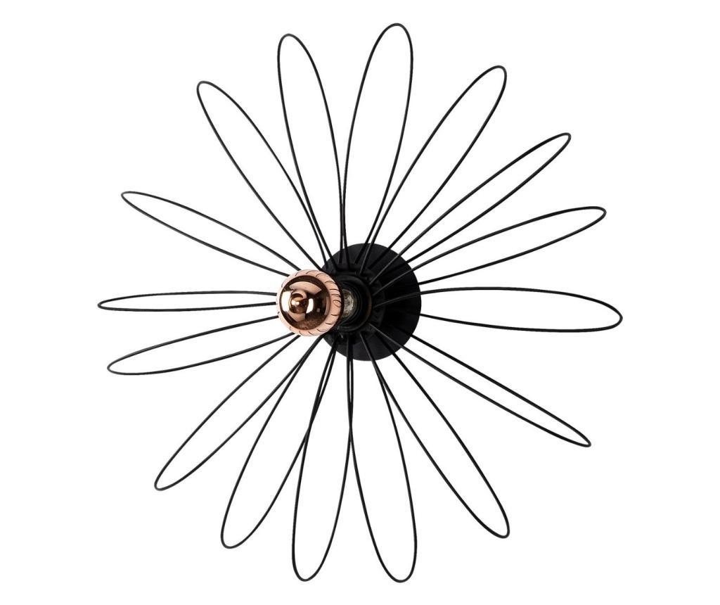 Aplica de perete Hemdem One Black Round - Sheen, Negru imagine