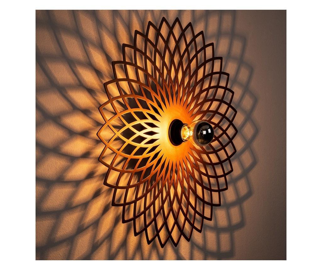 Aplica de perete Fellini One Copper Round - Noor, Maro imagine