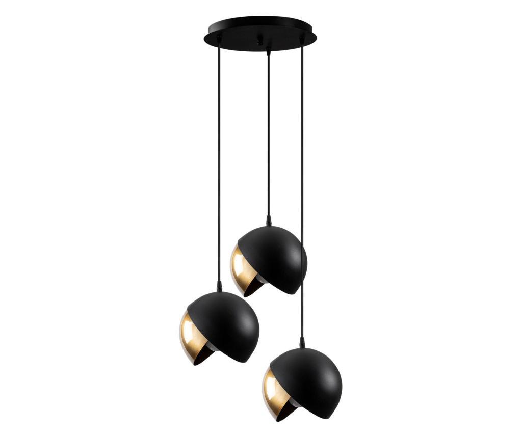 Lustra Berceste Three Black Gold Round - Sheen, Negru imagine
