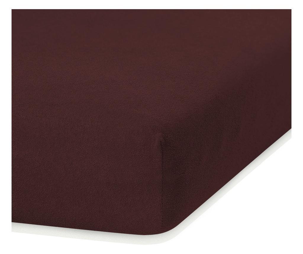 Cearsaf de pat cu elastic Ruby Brown 100x200 cm - AmeliaHome, Maro imagine