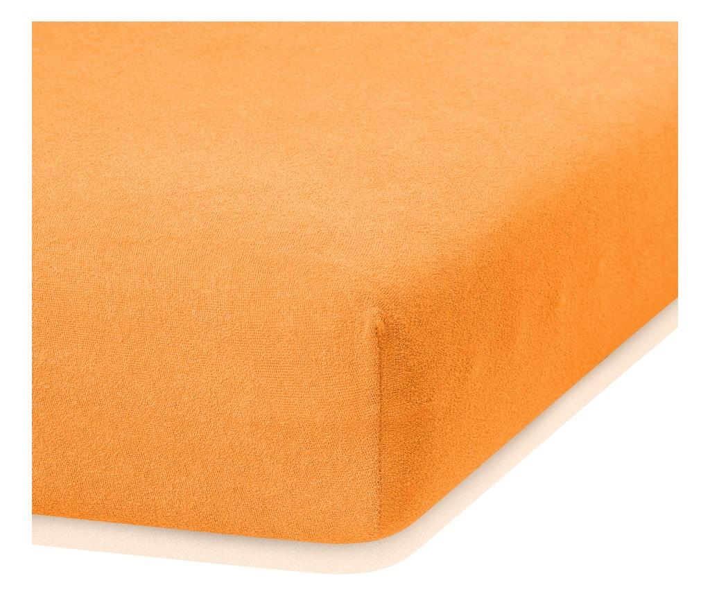 Cearsaf de pat cu elastic Ruby Orange 140x200 cm - AmeliaHome, Portocaliu