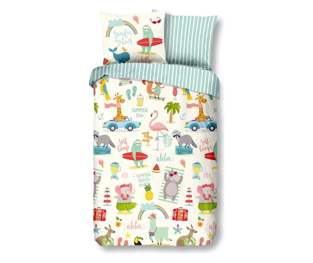 Set de pat pentru copii Single Ranforce Holiday - Good Morning, Multicolor imagine