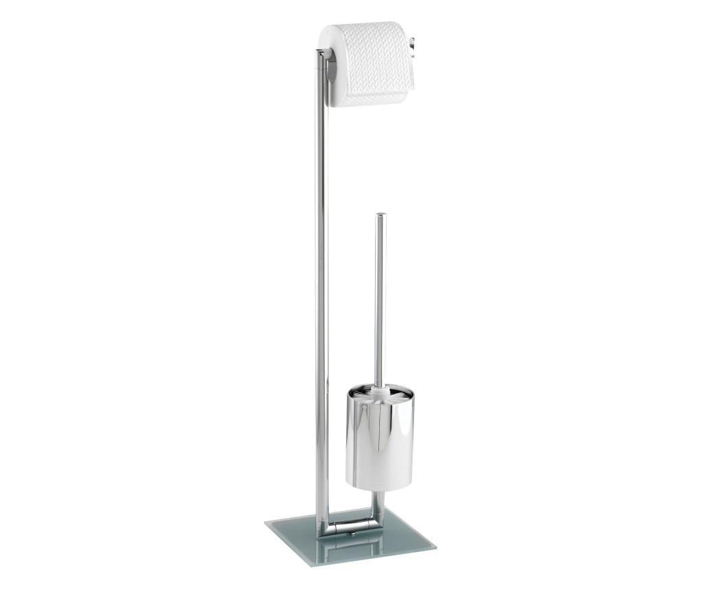 Suport pentru hartie igienica cu perie de toaleta imagine