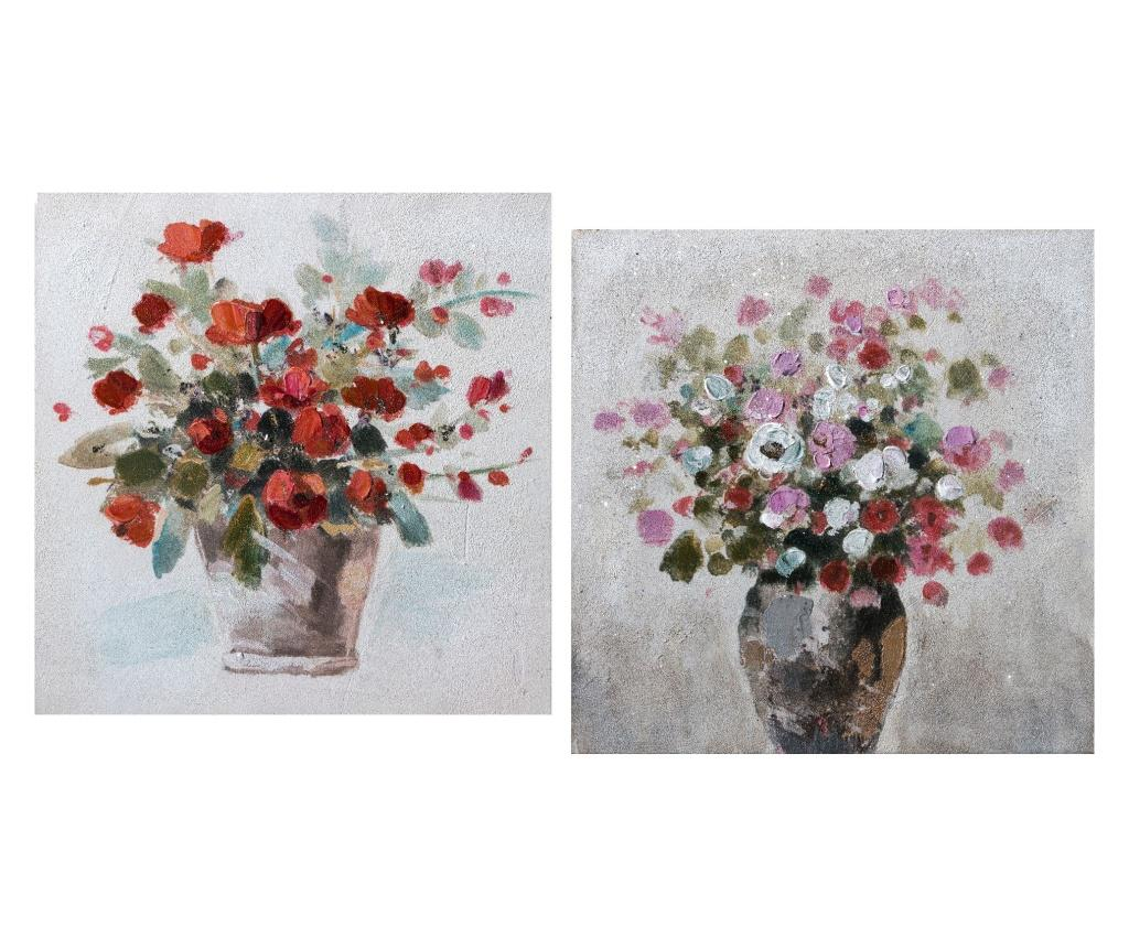 Set 2 tablouri 30x30 cm - L'arte di Nacchi, Multicolor