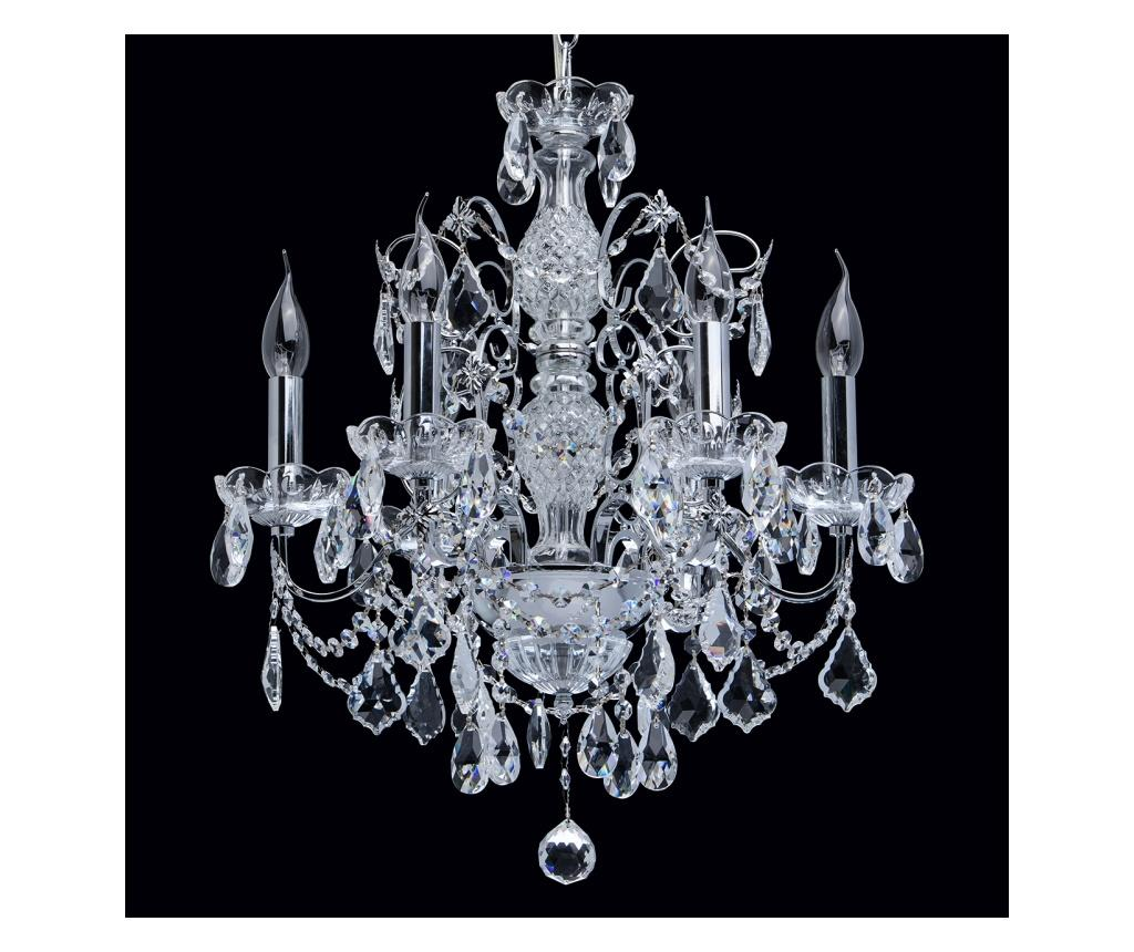 Candelabru Caroline - Classic Lighting, Gri & Argintiu imagine